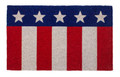 "PATRIOTIC FLAG COIR DOORMAT - 17"" X 38"" - WELCOME MAT"