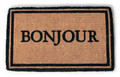 """BONJOUR EXTRA THICK COIR DOORMAT - 18"""" X 30"""" - FRENCH WELCOME MAT"""