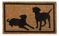 """MANS BEST FRIEND"" PUPPY DOG COIR DOORMAT - WELCOME MAT - 18"" X 30"""