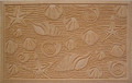 "LAGUNA BEACH SEASHELL DOORMAT - SHELL WELCOME MAT - 22"" x 35"""
