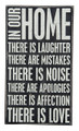"""HOME RULES"" DECORATIVE WOODEN SIGN"