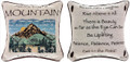 """ADVICE FROM A MOUNTAIN"" REVERSIBLE TAPESTRY THROW PILLOW - 12.5"" SQUARE - LODGE DECOR"