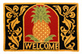 """SOUTHERN HOSPITALITY"" HAND HOOKED PINEAPPLE RUG - 22"" X 34"" - FREE SHIPPING*"