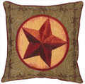 """WESTERN STAR"" TAPESTRY PILLOW - 17"" SQUARE - WESTERN DECOR"