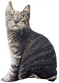 TABBY CAT PILLOW - CAT LOVERS PILLOW - SHAPED CAT PILLOW