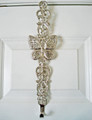 BUTTERFLY SCROLL WREATH HANGER - WREATH HOLDER - NICKEL FINISH