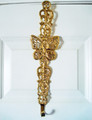 BRASS BUTTERFLY SCROLL WREATH HANGER - WREATH HOLDER