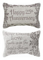 HAPPY 25TH ANNIVERSARY PILLOW - REVERSIBLE PILLOW