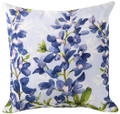 "BLUEBONNETS INDOOR OUTDOOR PILLOW - 18"" SQUARE - FLORAL DECOR"