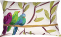 "BIRDS OF A FEATHER INDOOR OUTDOOR PILLOW - 18"" X 13"" - OBLONG BIRD PILLOW"