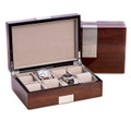 EIGHT WATCH WOODEN WATCH BOX - MENS VALET BOX