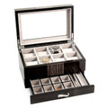 """BRISTOL"" EIGHT WATCH WOODEN WATCH BOX - CUFF LINK BOX - VALET BOX"