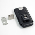 BLACK LEATHER 3-PIECE CIGAR SET - CIGAR CASE, CIGAR CUTTER & LIGHTER