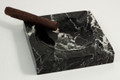 """MONTERREY"" SQUARE BLACK MARBLE ASHTRAY"