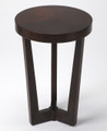 TRIBECCA ROUND  ACCENT TABLE - SIDE TABLE - MERLOT FINISH - FREE SHIPPING*