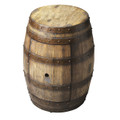 NAPA WINE BARREL TABLE - STORAGE TABLE - PRALINE FINISH - FREE SHIPPING*