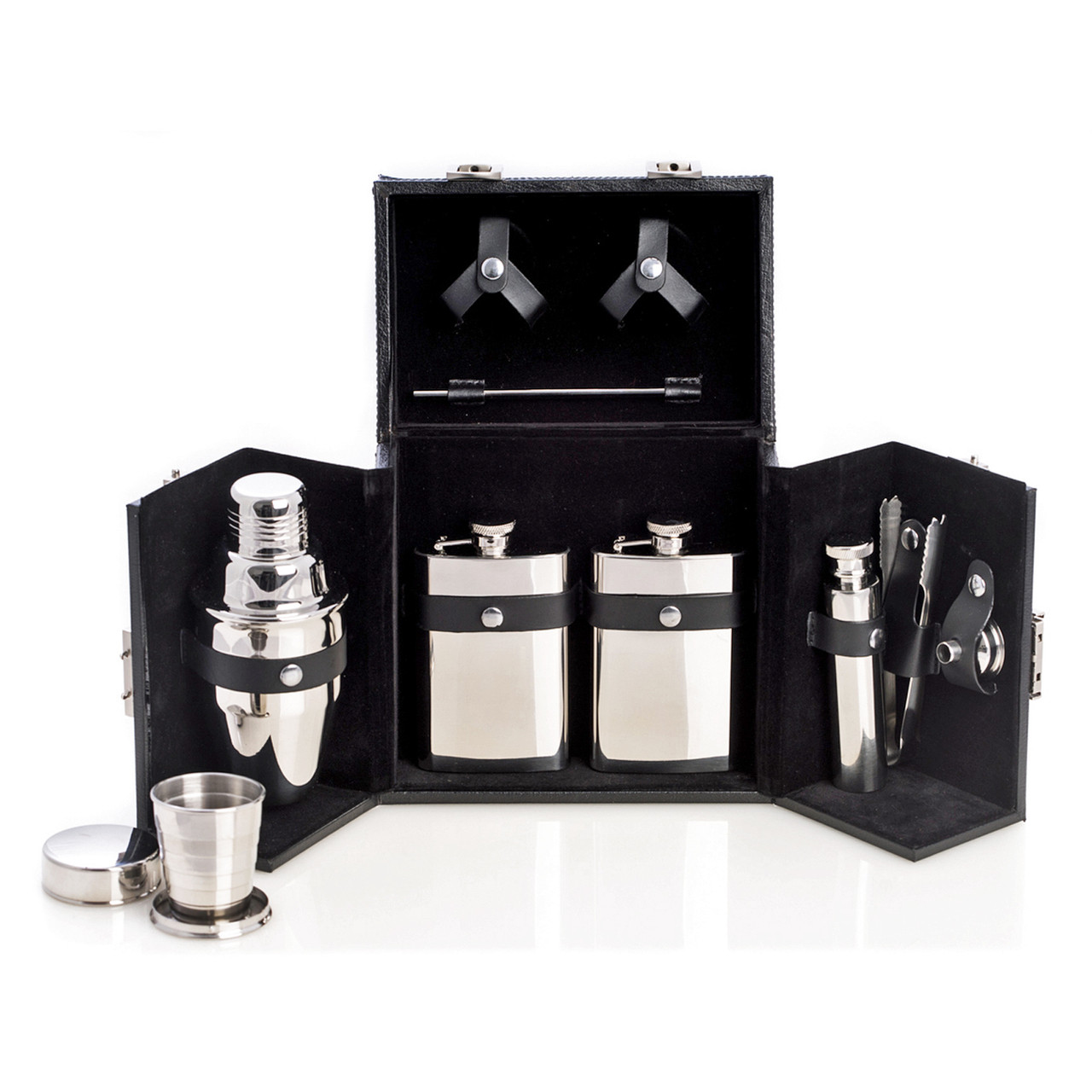 Stainless Steel Travel Bar Set Kensington Row Sets Collapsible Cup Image 1