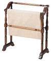 PLYMOUTH QUILT STAND - BLANKET RACK - CHERRY FINISH - FREE SHIPPING*