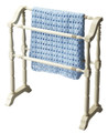 PLYMOUTH QUILT STAND - BLANKET RACK - COTTAGE WHITE FINISH - FREE SHIPPING*
