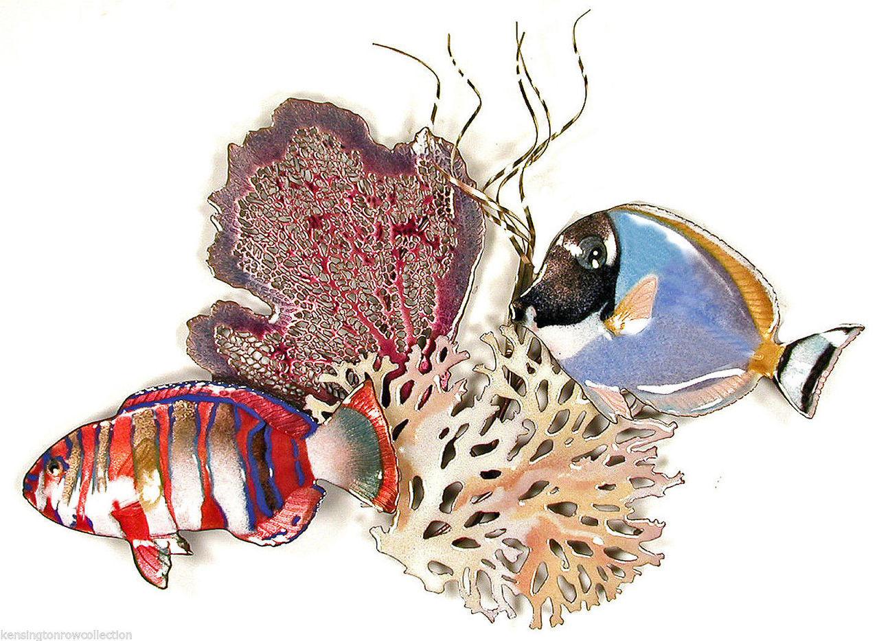 SURGEONFISH METAL WALL SCULPTURE WALL ART NAUTICAL DECOR FISH SCULPTURE