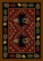 BEAR COUNTRY AREA RUG - 3' X 4' - RED - BEAR RUG - RUSTIC DECOR - CABIN DECOR