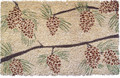 "MAJESTIC PINES COIR DOORMAT - 17"" X 28"" - PINECONE DOOR MAT - PINE CONE WELCOME MAT"