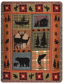 "WILDERNESS RETREAT TAPESTRY THROW BLANKET - 50"" x 60"" - LODGE DECOR"