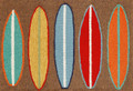 """""""SURFS UP"""" COLORFUL SURFBOARDS INDOOR OUTDOOR RUG - 30"""" x 48"""""""