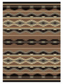 """BOULDER CANYON"" AREA RUG - 4' X 5' - SOUTHWEST RUG - GEOMETRIC DESIGN"