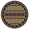 """BOULDER CANYON"" AREA RUG - 8' ROUND RUG - SOUTHWEST RUG - GEOMETRIC DESIGN"