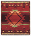 """OLD SANTA FE TAPESTRY CHENILLE THROW BLANKET - 50"""" x 60"""" - TAPESTRY THROW"""