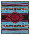 "ECHO CANYON TAPESTRY CHENILLE THROW BLANKET - 50"" X 60"" - FLAME DESIGN THROW"