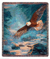 "MAJESTIC EAGLE TAPESTRY THROW BLANKET - 50"" X 60"" - LODGE DECOR"