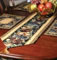 OLD WORLD ORCHARD TAPESTRY TABLE RUNNER - FRUIT TABLE RUNNER