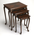 NEWBURGH NESTING TABLES - NEST OF TABLES - SET OF THREE - CHERRY FINISH - FREE SHIPPING*