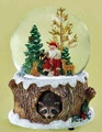 SANTA & WOODLAND FRIENDS MUSICAL SNOW GLOBE - SANTA SNOWGLOBE - FREE SHIPPING*
