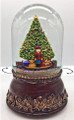 NUTCRACKER & CHRISTMAS TREE MUSICAL SNOW GLOBE WITH ROTATING TRAIN