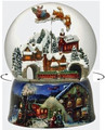 """CHRISTMAS EXPRESS"" MUSICAL SNOW GLOBE WITH ROTATING SANTA SLEIGH AND TRAIN"