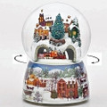"""""""TO GRANDMOTHERS HOUSE WE GO"""" MUSICAL SNOW GLOBE WITH ROTATING TRAIN"""