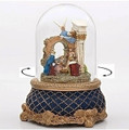 """O HOLY NIGHT"" REVOLVING MUSICAL SNOW GLOBE - NATIVITY SNOW GLOBE"
