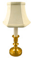 """""""WARWICKSHIRE"""" ANTIQUE BRASS MINI LAMP WITH OFF WHITE SHADE - 10.5""""H"""