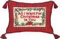 """ALL I WANT FOR CHRISTMAS"" PILLOW - PETIT-POINT CHRISTMAS PILLOW"