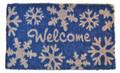 "WINTER SNOWFLAKES COIR WELCOME MAT - 18"" X 30"" - CHRISTMAS DOORMAT"