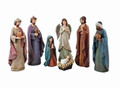 "CHRISTMAS DECORATIONS - ""A CHILD IS BORN"" 7-PIECE NATIVITY SET - 11.5'H"