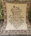 "THE LORD'S PRAYER THROW - 46"" X 60"" - FOLIATE SCROLL BORDER"
