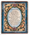 "THE LORD'S PRAYER TAPESTRY THROW - 50"" X 60"" THROW - STAIN GLASS LOOK"