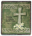 "PRAYER FOR PEACE TAPESTRY THROW - 50"" X 60"" THROW BLANKET"