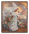 "ANGEL OF LOVE TAPESTRY THROW - 50"" X 60"" THROW BLANKET"