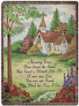 "AMAZING GRACE TAPESTRY THROW - 50"" X 60"" THROW BLANKET - CHURCH"