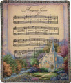 "AMAZING GRACE TAPESTRY THROW - 50"" X 60"" THROW BLANKET - COUNTRY CHURCH"